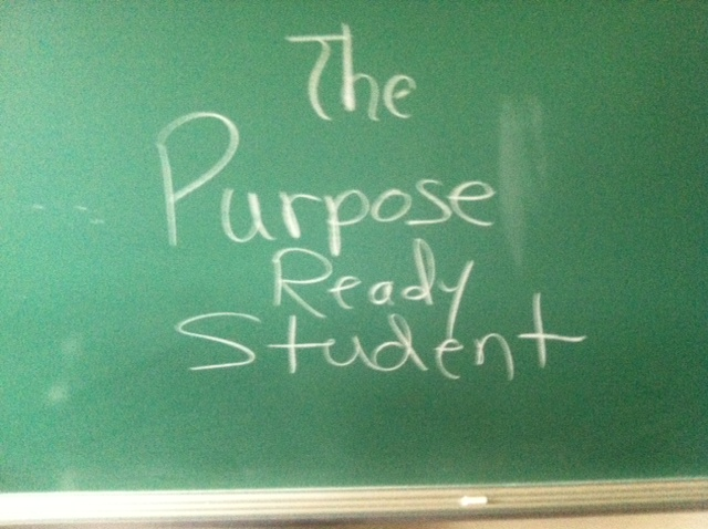 "Why we need more  ""Purpose Ready"" rather than ""Test Ready"" Students"